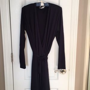Boden navy wrap dress